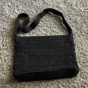 The Sak women's crochet black handbag